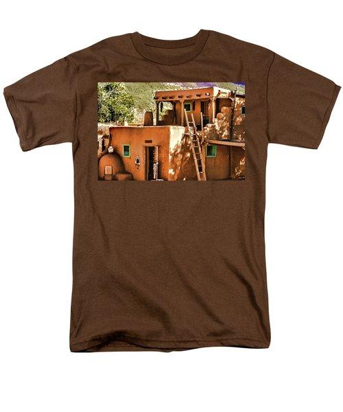 Men's T-Shirt  (Regular Fit) featuring the painting Adobe by Muhie Kanawati
