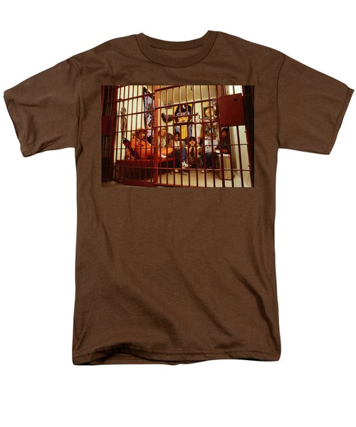 Aerosmith - In A Cage 1980s Men's T-Shirt  (Regular Fit) by Epic Rights