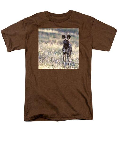 African Wild Dog  Lycaon Pictus Men's T-Shirt  (Regular Fit) by Liz Leyden