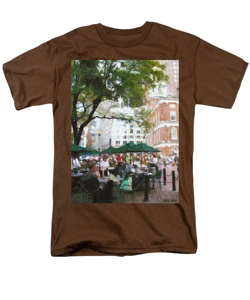 Afternoon At Faneuil Hall Men's T-Shirt  (Regular Fit) by Jeff Kolker
