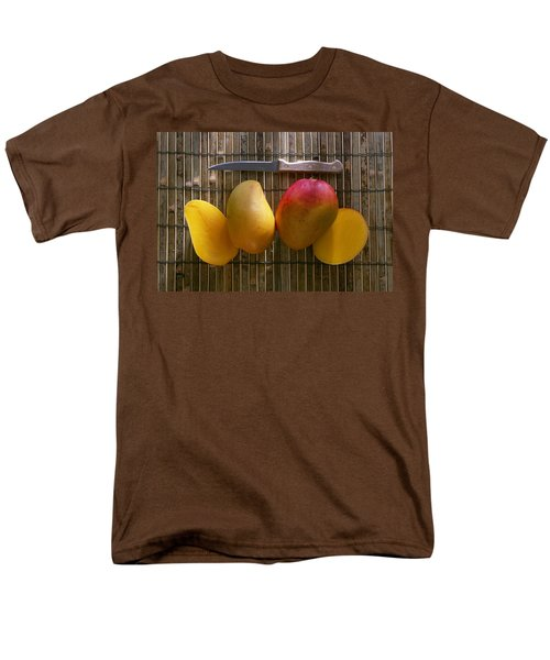 Agriculture - Sliced Sunrise Mango Men's T-Shirt  (Regular Fit) by Daniel Hurst