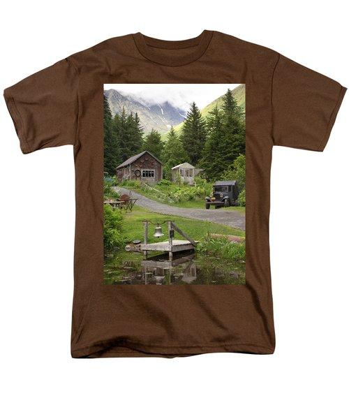 Alaskan Pioneer Mining Camp Men's T-Shirt  (Regular Fit)