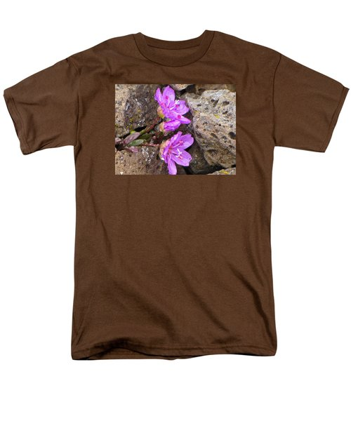 Alaskan Wildflower Men's T-Shirt  (Regular Fit) by Julie Andel