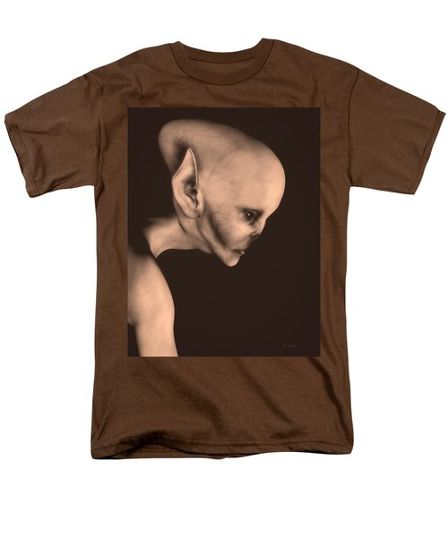 Alien Portrait  Men's T-Shirt  (Regular Fit) by Bob Orsillo