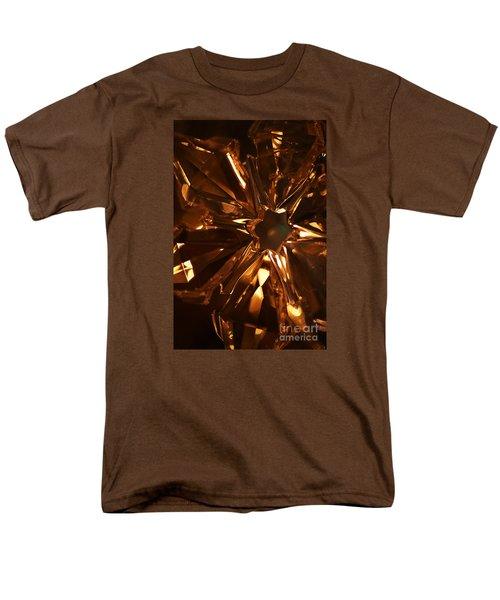 Amber Crystal Snowflake Men's T-Shirt  (Regular Fit) by Linda Shafer