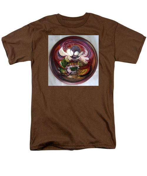 Anamorphic Chinese Pagoda Men's T-Shirt  (Regular Fit) by LaVonne Hand