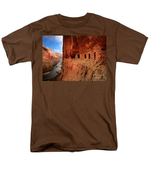 Anasazi Granaries Men's T-Shirt  (Regular Fit) by Inge Johnsson