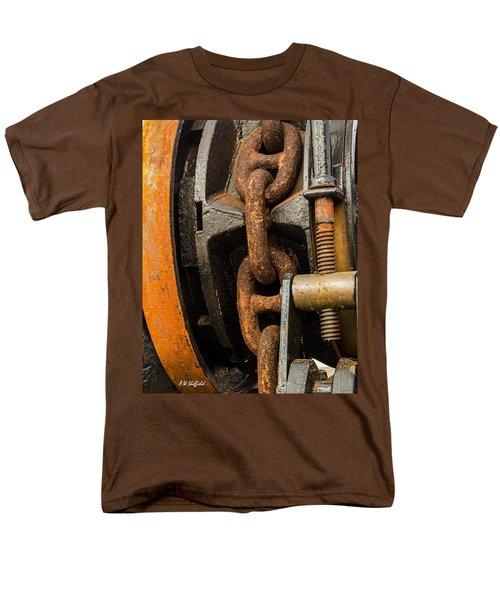 Anchor Chain - Tall Ship Elissa Men's T-Shirt  (Regular Fit) by Allen Sheffield