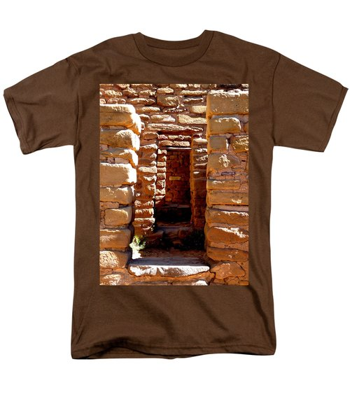 Men's T-Shirt  (Regular Fit) featuring the photograph Ancient Doorways by Alan Socolik
