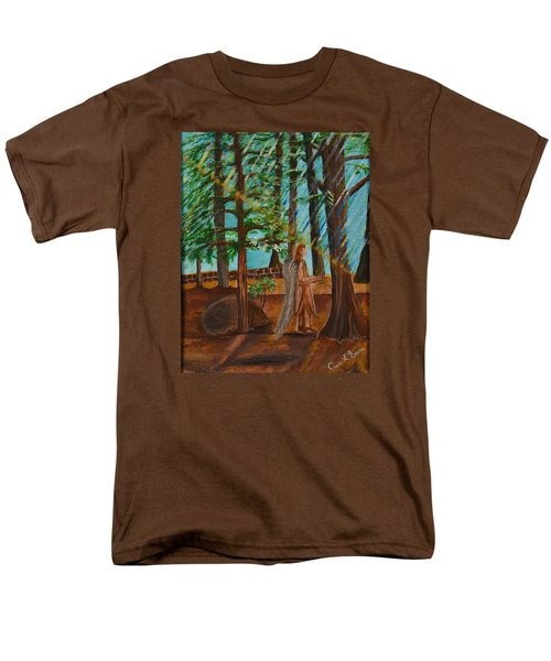 Men's T-Shirt  (Regular Fit) featuring the painting Angle In Idyllwild by Cassie Sears