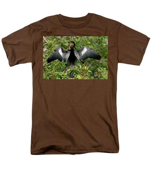 Anhinga Sunning Men's T-Shirt  (Regular Fit) by Anthony Mercieca