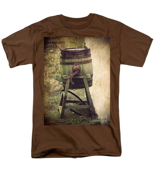 Men's T-Shirt  (Regular Fit) featuring the photograph Antique Butter Churn by Linsey Williams