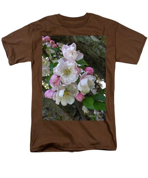 Apple Blossom Bouquet Men's T-Shirt  (Regular Fit) by Sara  Raber