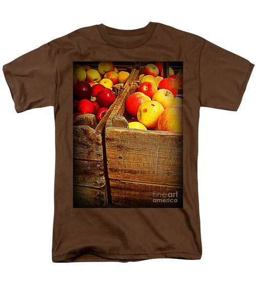 Men's T-Shirt  (Regular Fit) featuring the photograph Apples In Old Bin by Miriam Danar