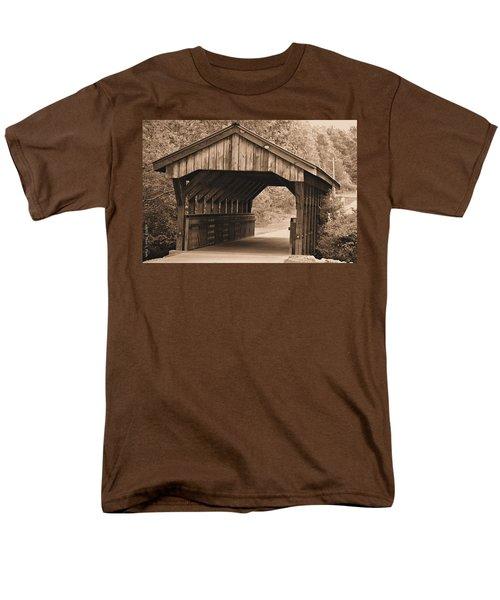 Arabia Mountain Covered Bridge Men's T-Shirt  (Regular Fit) by Tara Potts