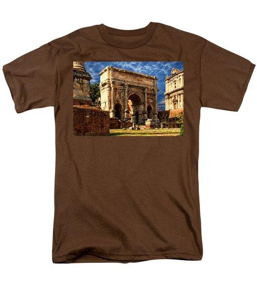 Arch Of Septimius Severus Men's T-Shirt  (Regular Fit) by Anthony Dezenzio
