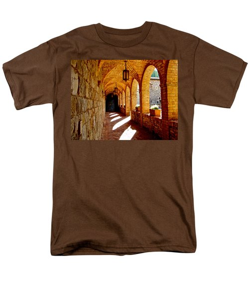 Archway By Courtyard In Castello Di Amorosa In Napa Valley-ca Men's T-Shirt  (Regular Fit) by Ruth Hager