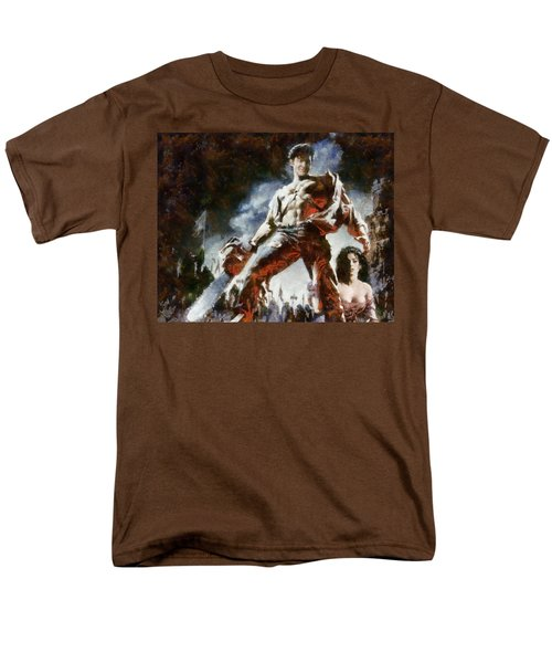 Men's T-Shirt  (Regular Fit) featuring the painting Army Of Darkness by Joe Misrasi