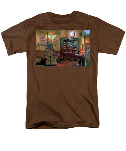Men's T-Shirt  (Regular Fit) featuring the photograph Aromas Coffee Shop Newport News Virginia by Jerry Gammon