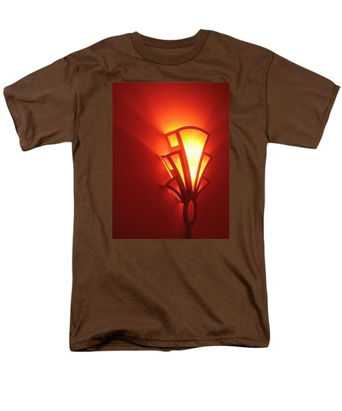 Men's T-Shirt  (Regular Fit) featuring the photograph Art Deco Light Fox Tucson Arizona  Theater  2006 by David Lee Guss