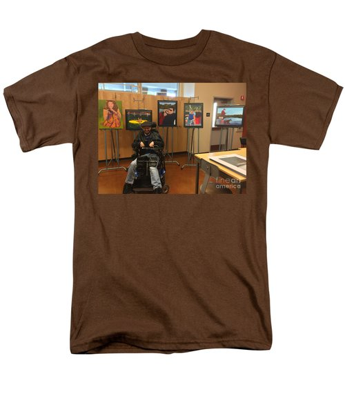 Men's T-Shirt  (Regular Fit) featuring the photograph Artist With Lake Series by Donald J Ryker III