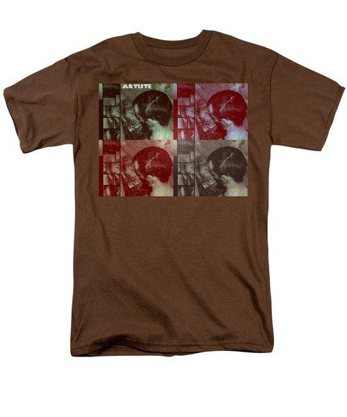 Men's T-Shirt  (Regular Fit) featuring the photograph Artiste Stevo York Headpainting Part One by Sir Josef - Social Critic - ART
