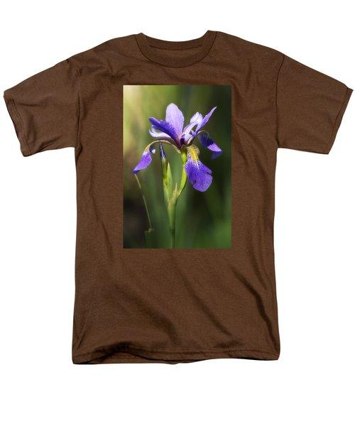 Artsy Iris Men's T-Shirt  (Regular Fit) by Shelly Gunderson
