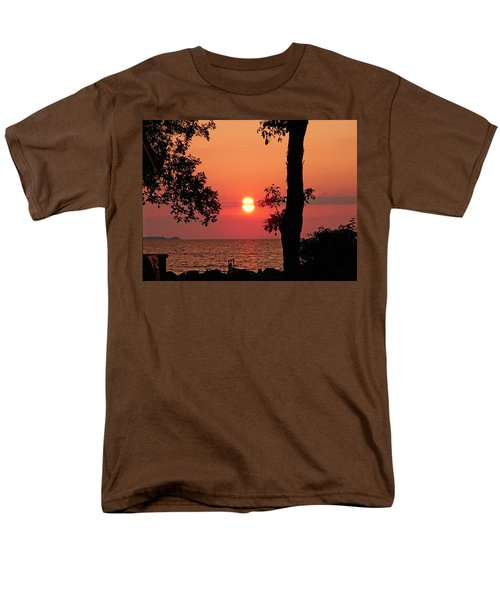 Men's T-Shirt  (Regular Fit) featuring the photograph Association Island Sunset by Aimee L Maher Photography and Art Visit ALMGallerydotcom