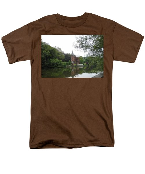 Men's T-Shirt  (Regular Fit) featuring the photograph at THE MINNEWATER in BRUGGE Brugges Belgium by PainterArtist FIN
