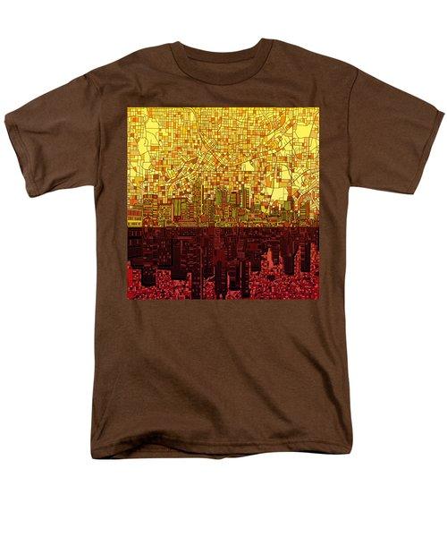 Atlanta Skyline Abstract 3 Men's T-Shirt  (Regular Fit) by Bekim Art