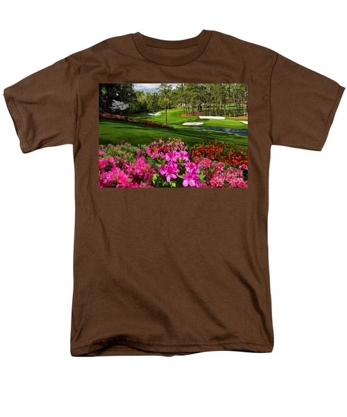 Augusta Azaleas 16th And 6th Men's T-Shirt  (Regular Fit) by Tim Gilliland