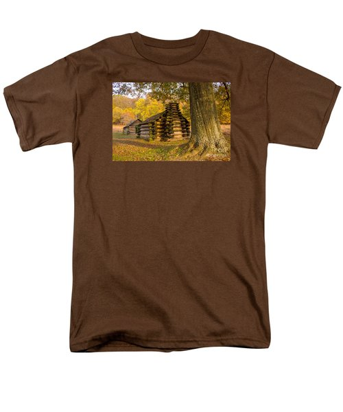 Men's T-Shirt  (Regular Fit) featuring the photograph Autumn And The Huts At Valley Forge by Rima Biswas