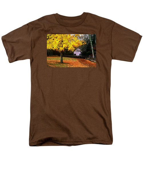 Men's T-Shirt  (Regular Fit) featuring the photograph Autumn At Old Mill by Rodney Lee Williams