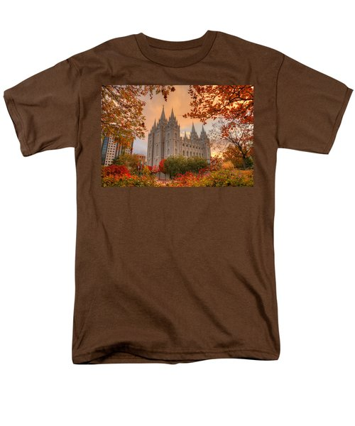 Autumn At Temple Square Men's T-Shirt  (Regular Fit) by Dustin  LeFevre