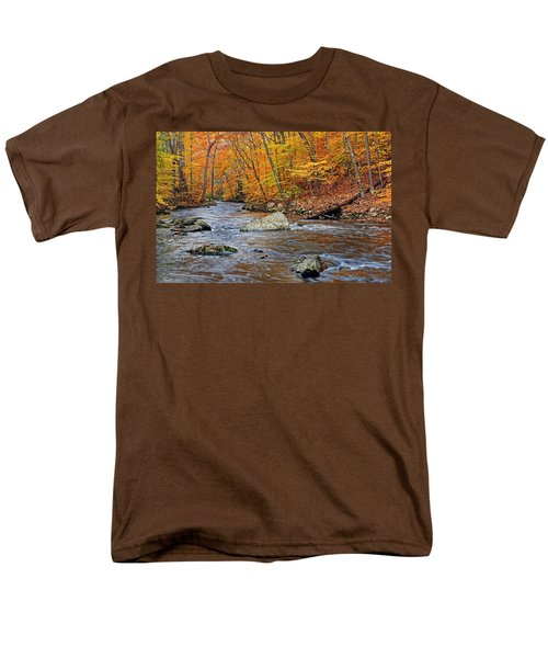 Autumn At The Black River Men's T-Shirt  (Regular Fit) by Dave Mills