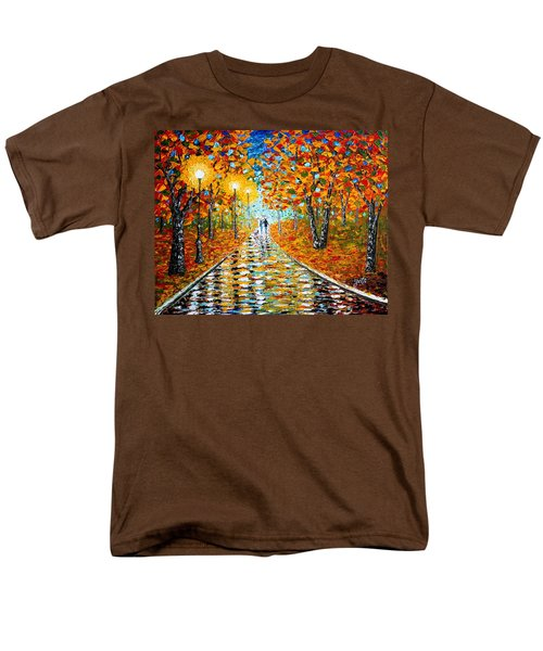 Men's T-Shirt  (Regular Fit) featuring the painting Autumn Beauty Original Palette Knife Painting by Georgeta  Blanaru