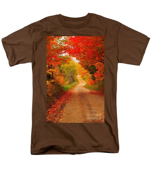 Men's T-Shirt  (Regular Fit) featuring the photograph Autumn Cameo by Terri Gostola