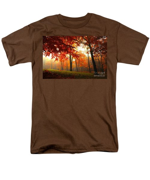 Men's T-Shirt  (Regular Fit) featuring the photograph Autumn Canopy by Terri Gostola