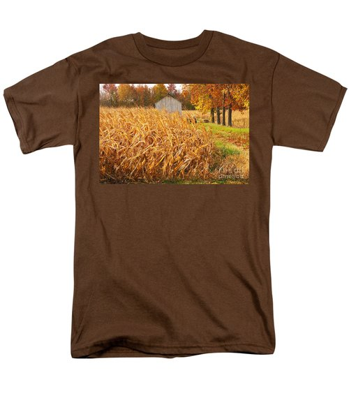 Autumn Corn Men's T-Shirt  (Regular Fit) by Mary Carol Story