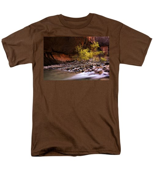 Men's T-Shirt  (Regular Fit) featuring the photograph Autumn Cottonwood In The Narrows by Andrew Soundarajan