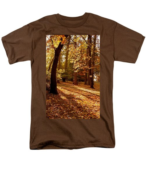 Autumn Country Lane Evening Men's T-Shirt  (Regular Fit) by Michele Myers