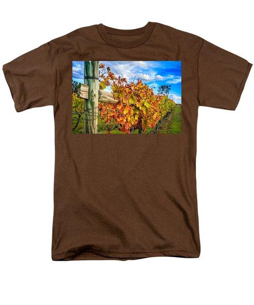 Autumn Falls At The Winery Men's T-Shirt  (Regular Fit) by Peta Thames