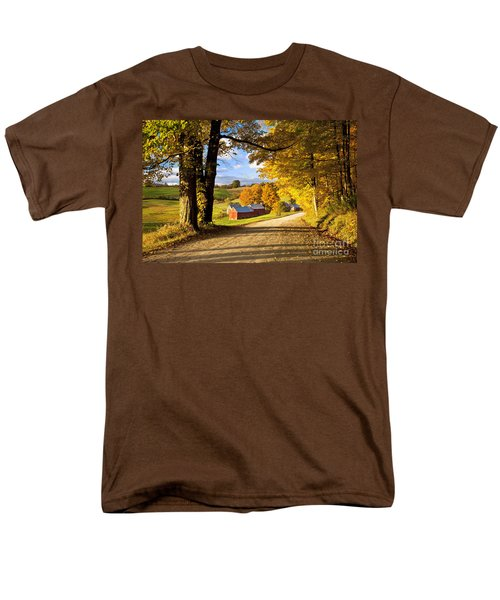 Autumn Farm In Vermont Men's T-Shirt  (Regular Fit) by Brian Jannsen