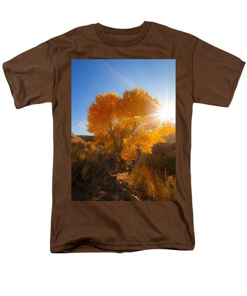 Autumn Golden Birch Tree In The Sun Fine Art Photograph Print Men's T-Shirt  (Regular Fit) by Jerry Cowart