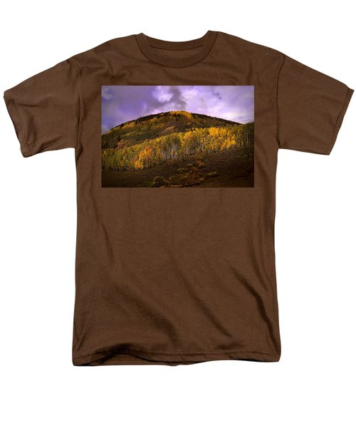 Men's T-Shirt  (Regular Fit) featuring the photograph Autumn Hillside by Ellen Heaverlo