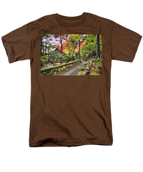 Men's T-Shirt  (Regular Fit) featuring the photograph Autumn Walk by John Swartz