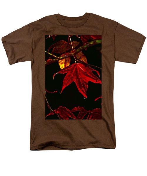Men's T-Shirt  (Regular Fit) featuring the photograph Autumn Leaves by Lesa Fine