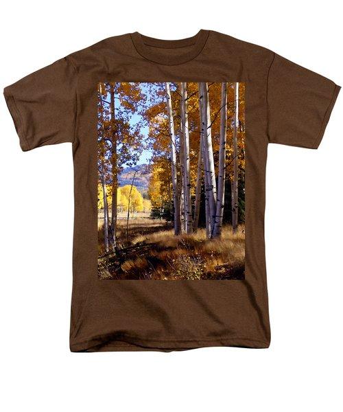 Autumn Paint Chama New Mexico Men's T-Shirt  (Regular Fit) by Kurt Van Wagner