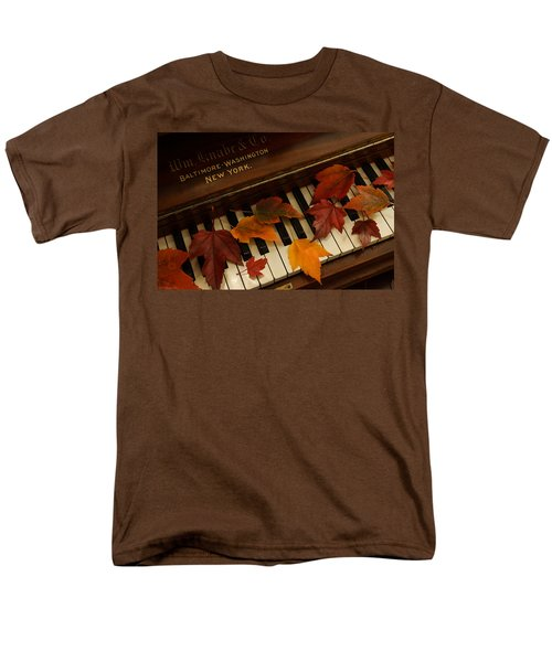 Autumn Piano 14 Men's T-Shirt  (Regular Fit) by Mick Anderson