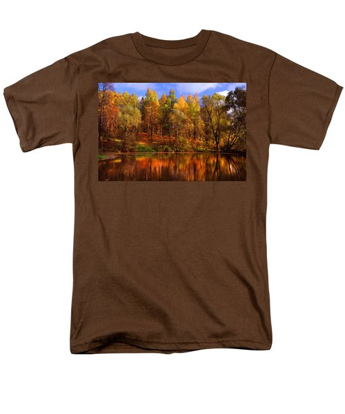 Autumn Reflections Men's T-Shirt  (Regular Fit) by Jenny Rainbow